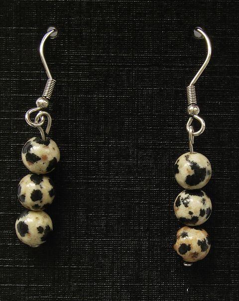 Náušnice jaspis dalmatin (2)