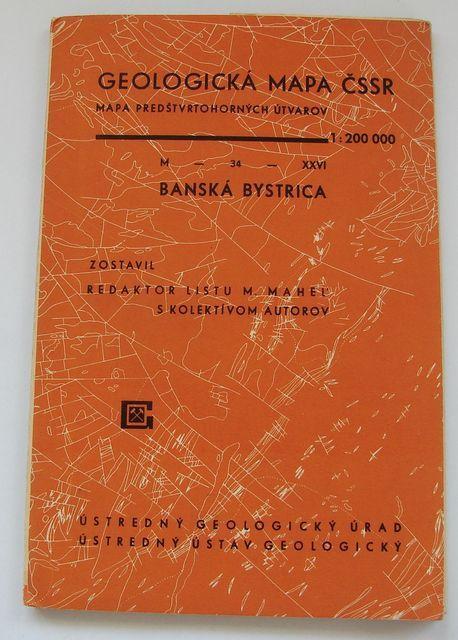 Geologická mapa 1:200 000, list Banská Bystrica