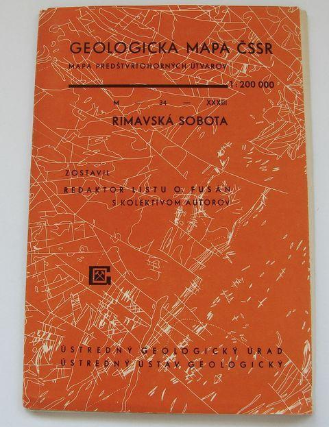 Geologická mapa 1:200 000, list Rimavská Sobota