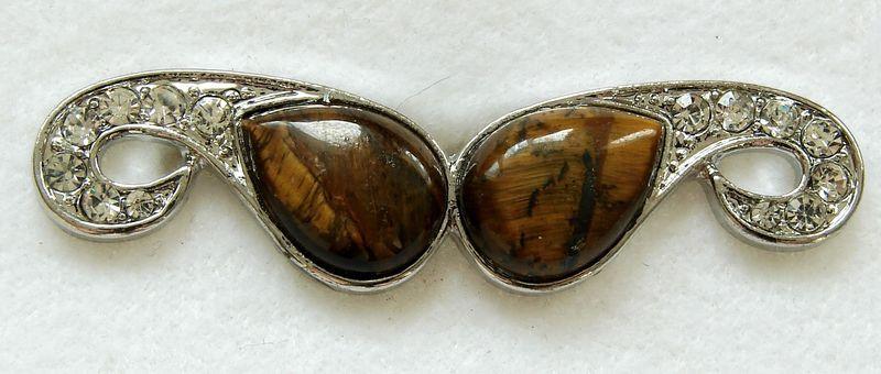 Tygří oko - prsten na dva prsty (4), univerzální velikost