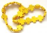 Náramek HOWLIT kříže žluté