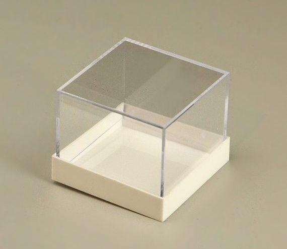 Plastová krabička na minerály a fosílie bílá 50ks