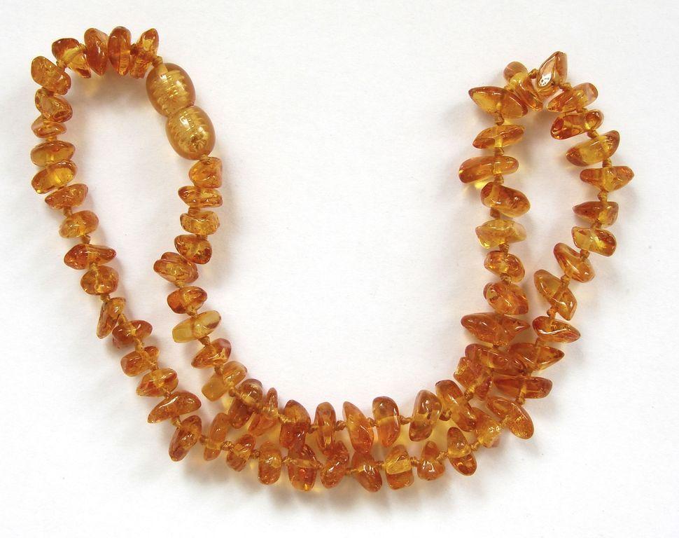 Malý náhrdelník na bolest zubů u dětí - baltský jantar (13)