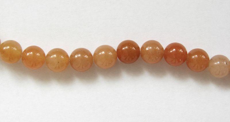 Oranžový AVENTURIN korálky 8 mm (1)