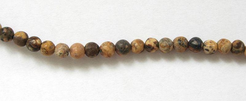 JASPIS leopard - kuličky 4 mm (1)