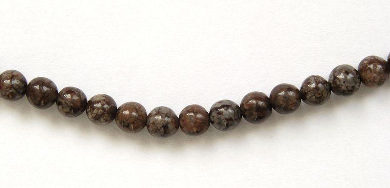 hnědý OBSIDIAN - kuličky 4 mm (2)