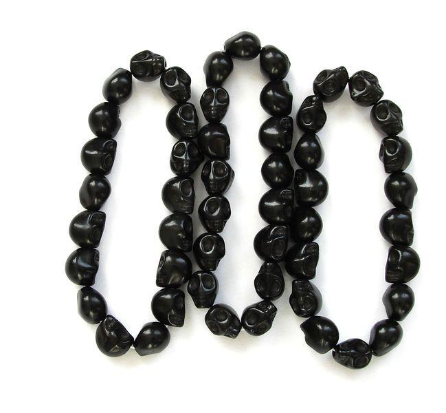 Náramek HOWLIT lebky černé (1)