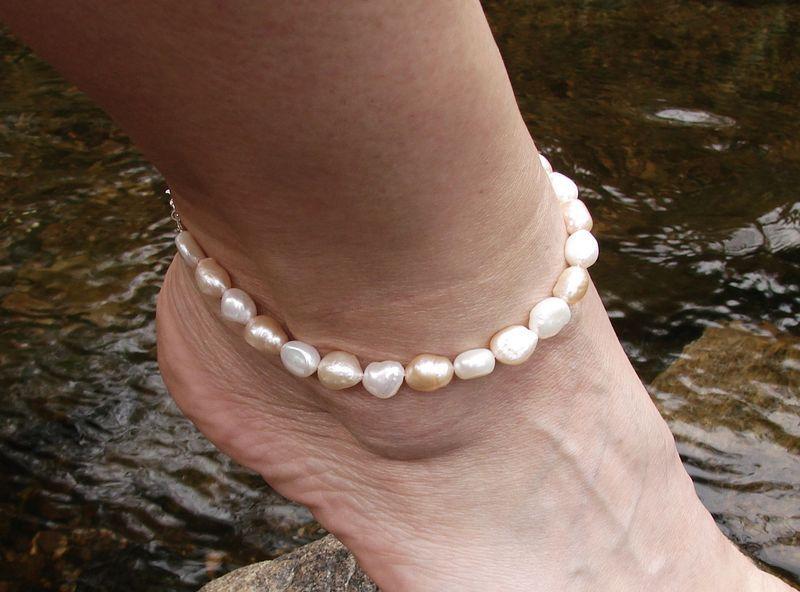 Náramek na lýtko - perly barokové (1)