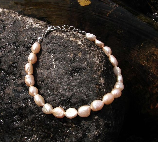 Náramek na lýtko - perly barokové (2)