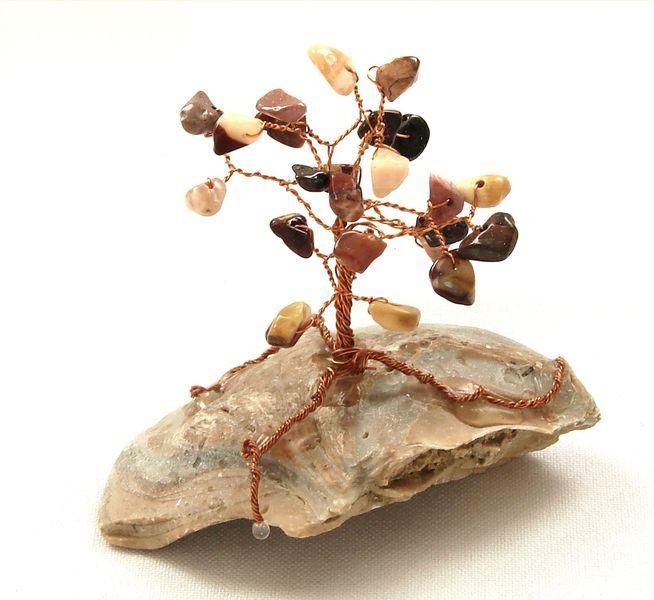 Stromeček štěstí z mokka jaspisu (1)