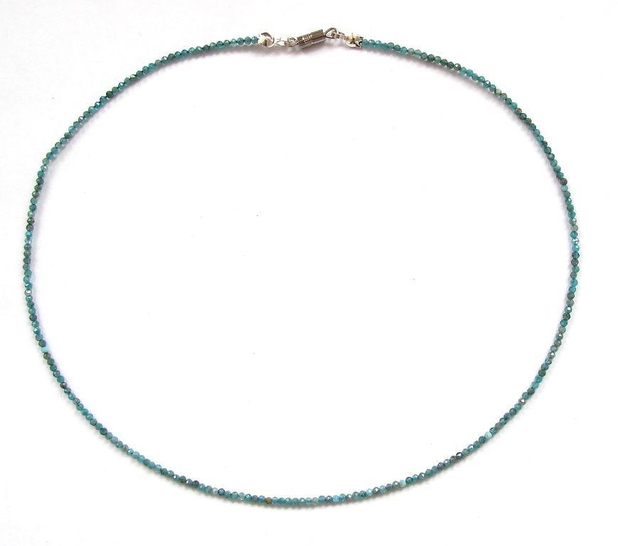Fazetovaný apatit - náhrdelník (12)