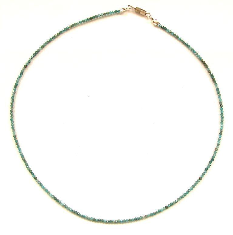 Fazetovaný apatit - náhrdelník (15)