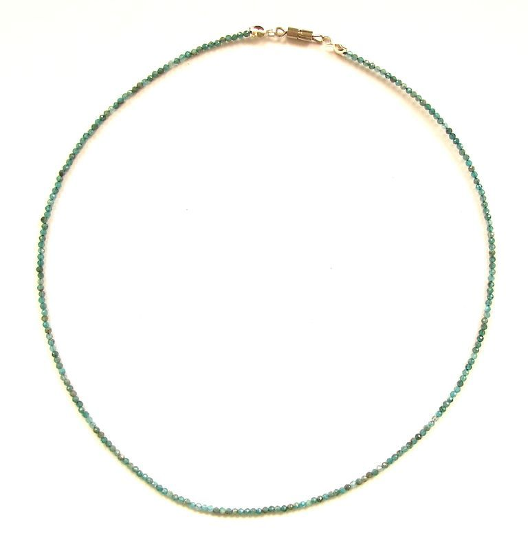 Fazetovaný apatit - náhrdelník (16)