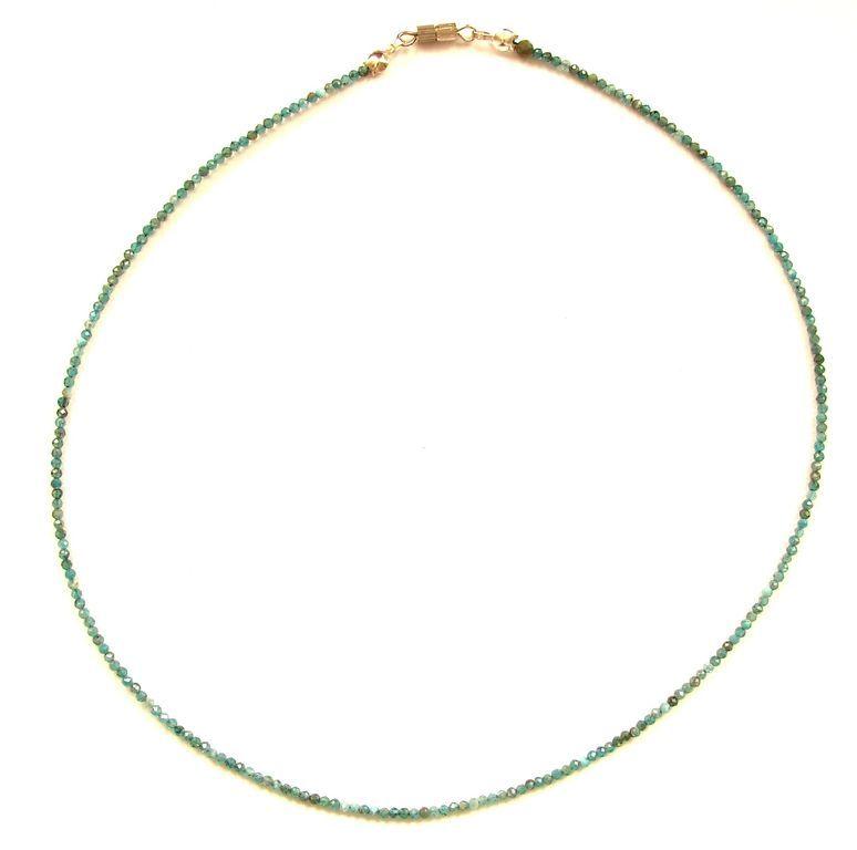 Fazetovaný apatit - náhrdelník (18)