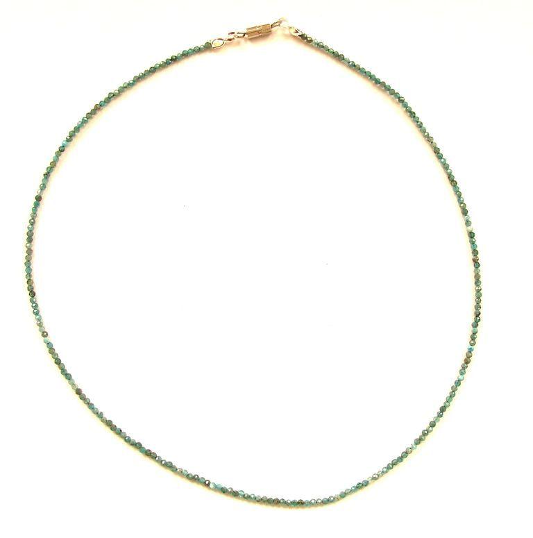 Fazetovaný apatit - náhrdelník (19)