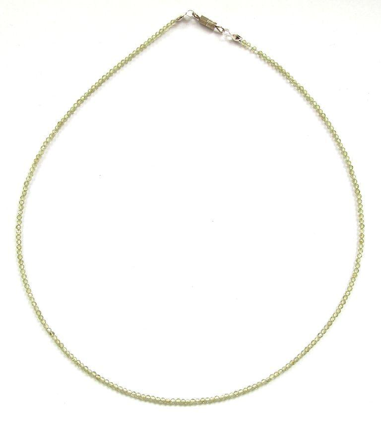 Fazetovaný olivín - peridot - náhrdelník (1)