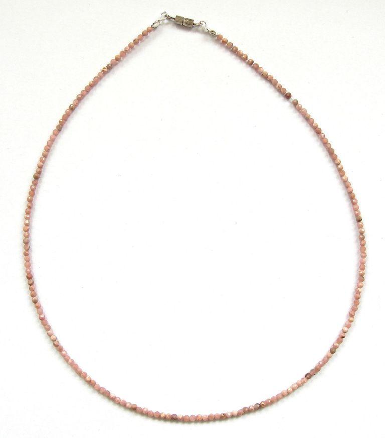 Fazetovaný rodochrozit - náhrdelník (3)