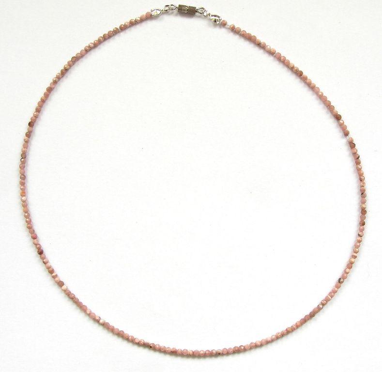 Fazetovaný rodochrozit - náhrdelník (4)