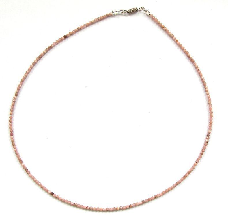 Fazetovaný rodochrozit - náhrdelník (6)