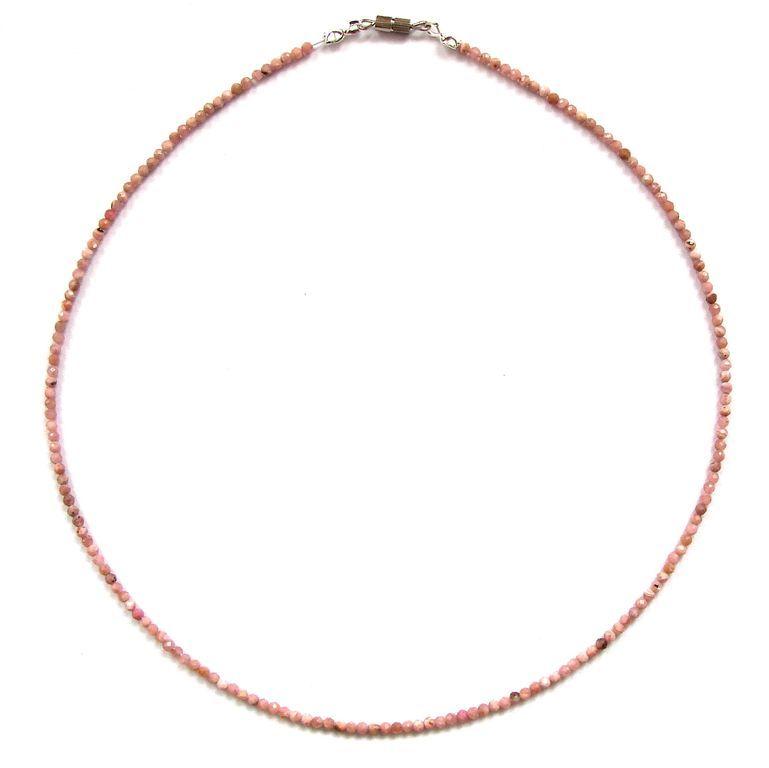 Fazetovaný rodochrozit - náhrdelník (7)