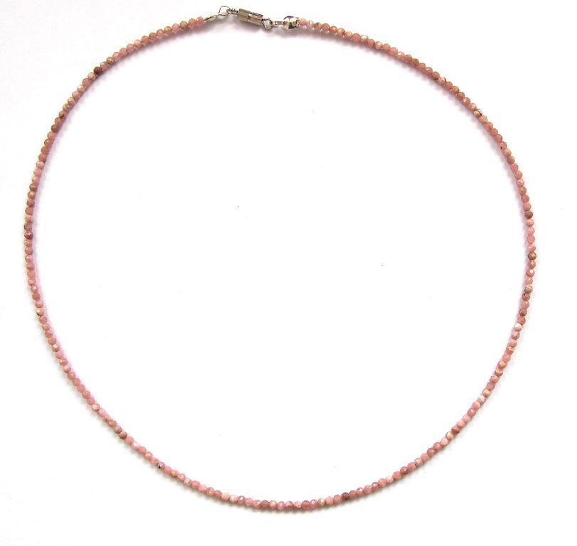 Fazetovaný rodochrozit - náhrdelník (8)
