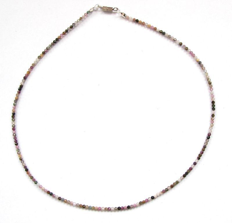 Fazetovaný turmalín - náhrdelník (12)