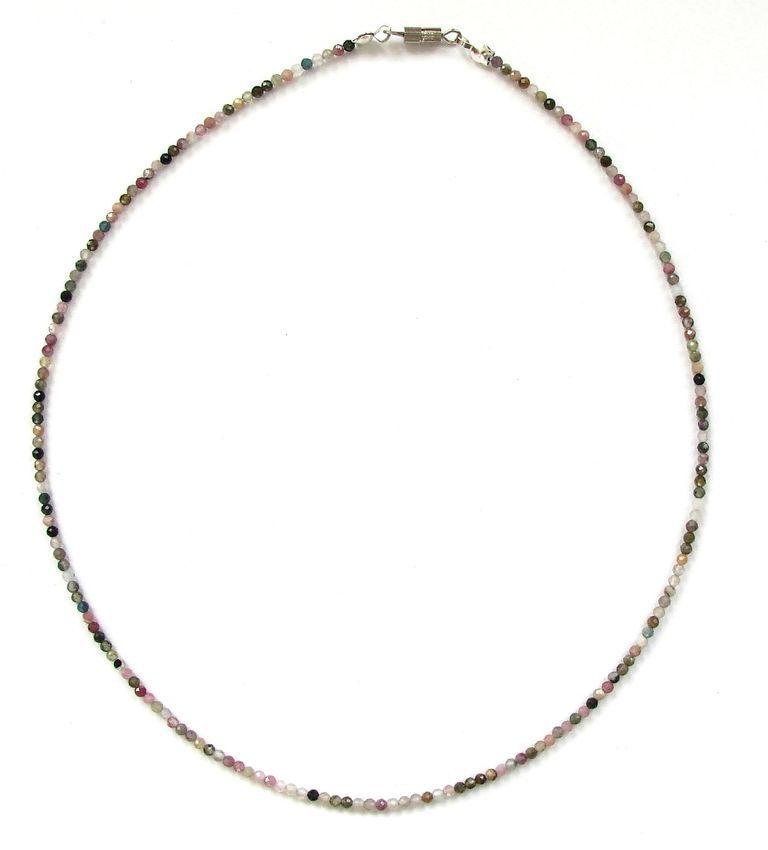 Fazetovaný turmalín - náhrdelník (16)