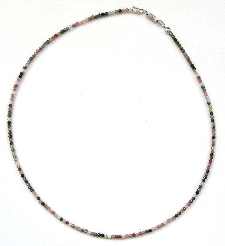 Fazetovaný turmalín - náhrdelník (17)