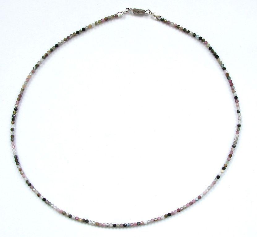 Fazetovaný turmalín - náhrdelník (18)