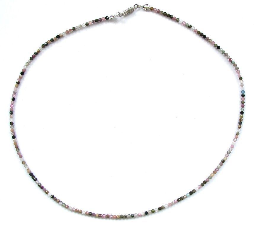 Fazetovaný turmalín - náhrdelník (19)