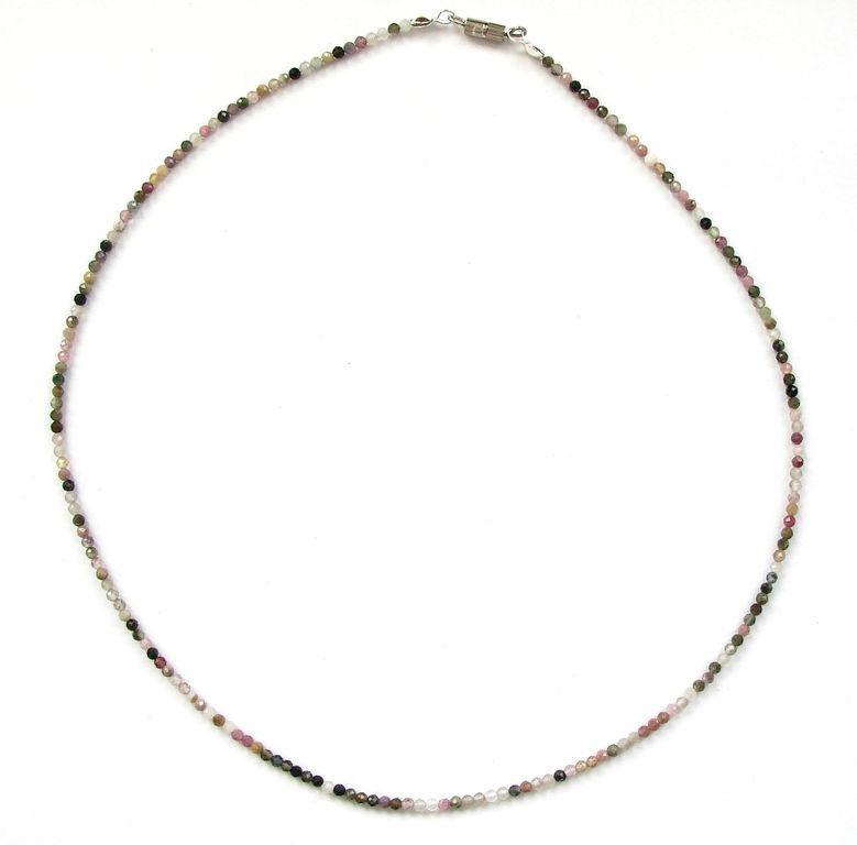 Fazetovaný turmalín - náhrdelník (20)