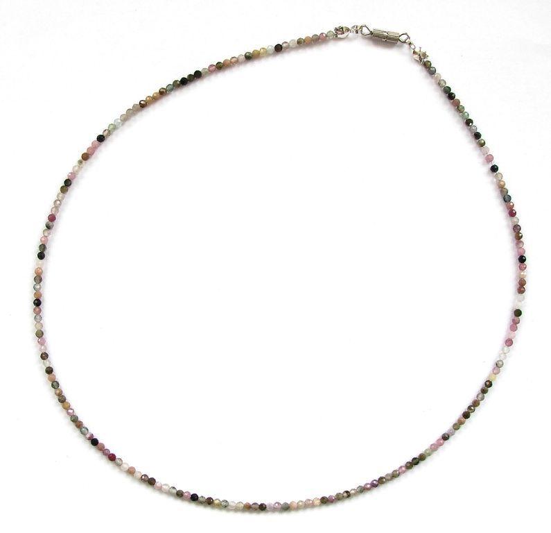 Fazetovaný turmalín - náhrdelník (23)