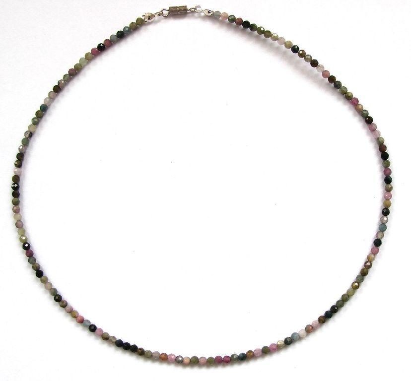 Fazetovaný turmalín - náhrdelník (6)