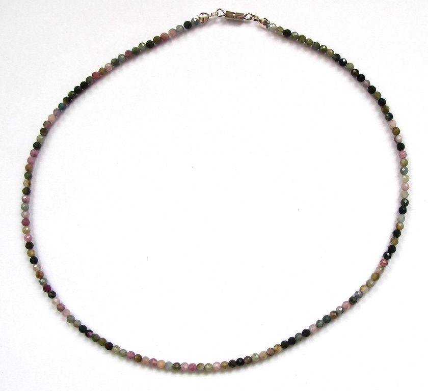 Fazetovaný turmalín - náhrdelník (7)