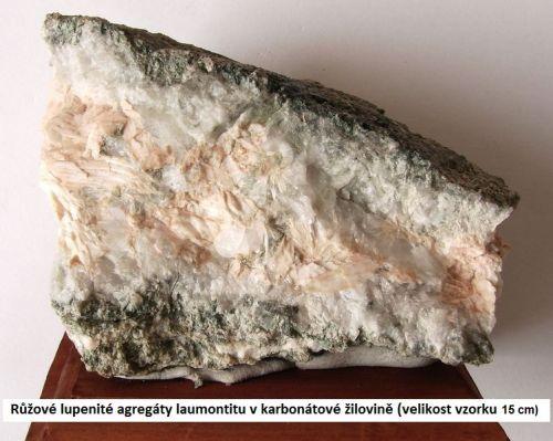 Laumontit - Dolní Rožínka