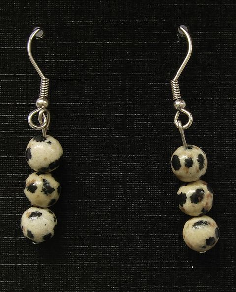 Náušnice jaspis dalmatin (1)