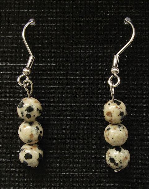 Náušnice jaspis dalmatin (3)