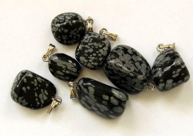 Přívěšek vločkový obsidian (1)