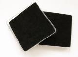 Plastová krabička na šperky 8 cm, černý polštářek