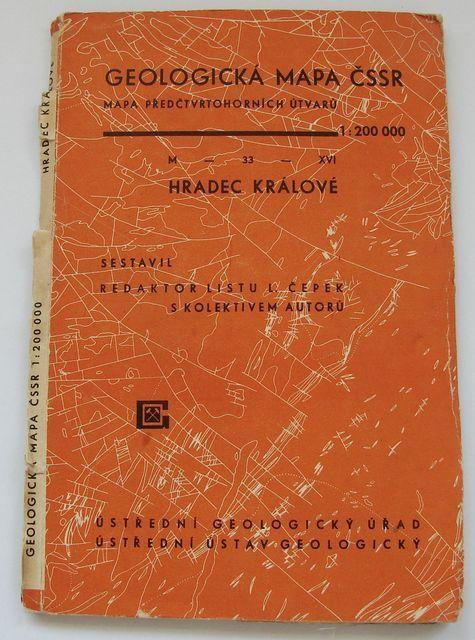 Geologická mapa 1:200 000, list Hradec Králové