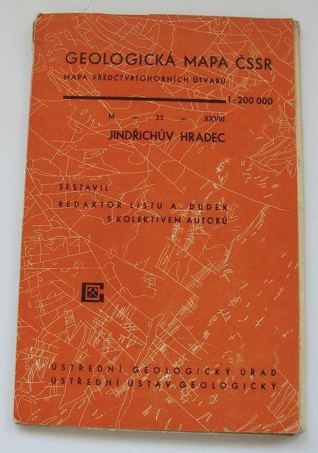 Geologická mapa 1:200 000, list Jindřichův Hradec