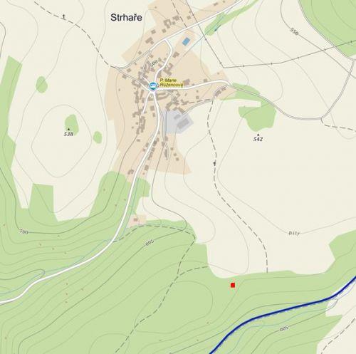 Mapa s pozicí lokality Strhaře