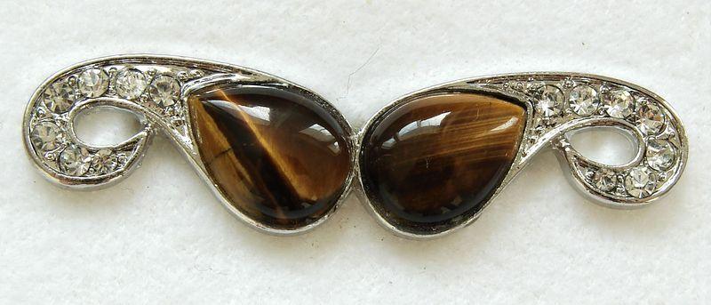 Tygří oko - prsten na dva prsty (3), univerzální velikost