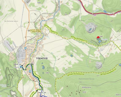 Mapka umístění lokality