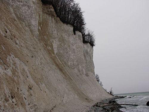 Křídové útesy severně od Sassnitz