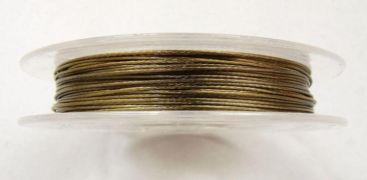 Lanko na navlékání korálků 0,38 mm bronzově žluté