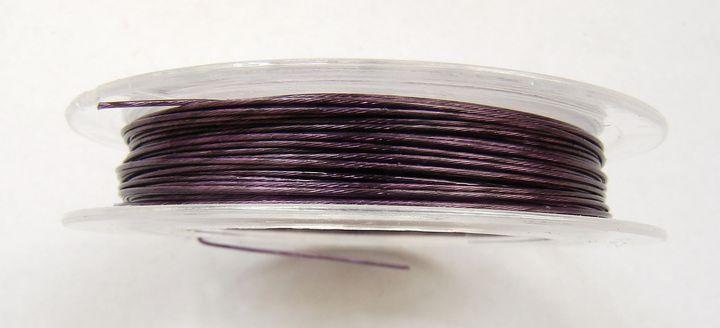 Lanko na navlékání korálků 0,38 mm fialové