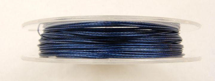Lanko na navlékání korálků 0,38 mm modré