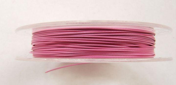 Lanko na navlékání korálků 0,38 mm růžové