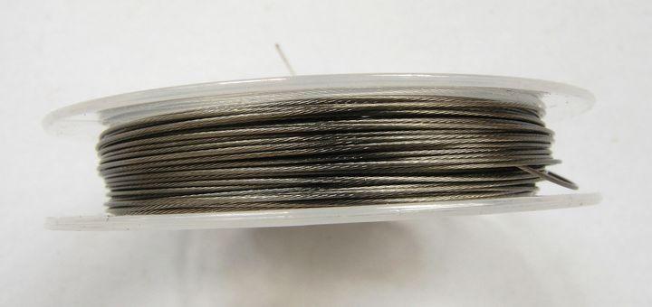 Lanko na navlékání korálků 0,38 mm šedé
